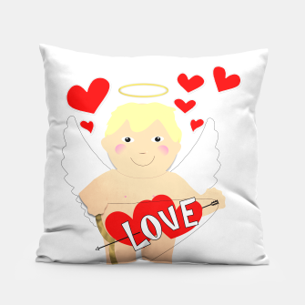 Thumbnail image of Valentine Love Arrows Cupid Sweet Hearts Pillow, Live Heroes