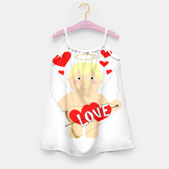 Thumbnail image of Valentine Love Arrows Cupid Sweet Hearts Girl's Dress, Live Heroes