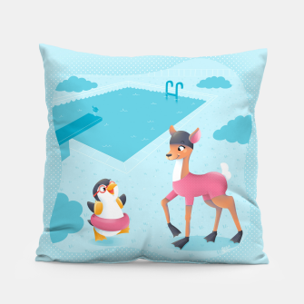 Thumbnail image of Swimming Pool Pillow, Live Heroes