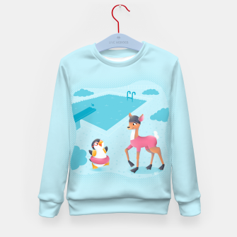 Thumbnail image of Swimming Pool Kid's Sweater, Live Heroes