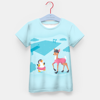 Thumbnail image of Swimming Pool Kid's T-shirt, Live Heroes