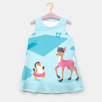 Thumbnail image of Swimming Pool Girl's Summer Dress, Live Heroes