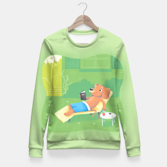 Thumbnail image of Chillin' Fitted Waist Sweater, Live Heroes
