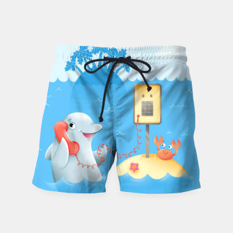 Thumbnail image of Phone Call Swim Shorts, Live Heroes