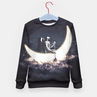 Miniature de image de Moon Sailing Kid's Sweater, Live Heroes