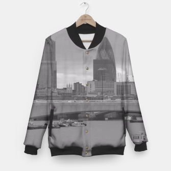 Thumbnail image of Black & White London  Baseball Jacket, Live Heroes