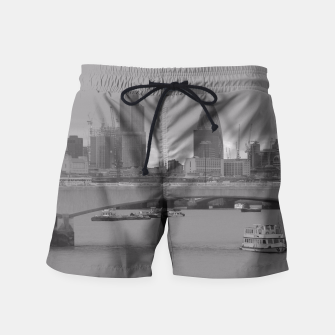 Thumbnail image of Black & White London  Swim Shorts, Live Heroes