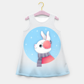 Miniature de image de Snow Bunny Girl's Summer Dress, Live Heroes