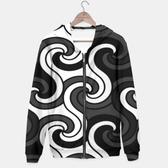 Thumbnail image of Black Swirls  Hoodie, Live Heroes