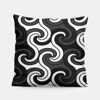 Thumbnail image of Black Swirls  Pillow, Live Heroes