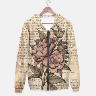 Thumbnail image of Botanicals: Vintage Peonies Sudadera con capucha, Live Heroes