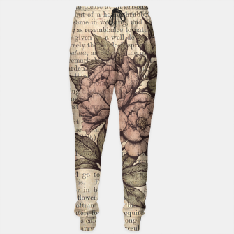 Thumbnail image of Botanicals: Vintage Peonies Pantalones de chándal, Live Heroes