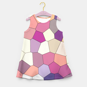Thumbnail image of Retro COLORS Girl's Summer Dress, Live Heroes