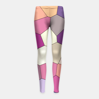 Thumbnail image of Retro COLORS Girl's Leggings, Live Heroes