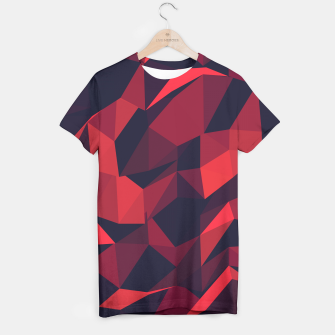 Thumbnail image of Red Geometric Pattern T-Shirt, Live Heroes