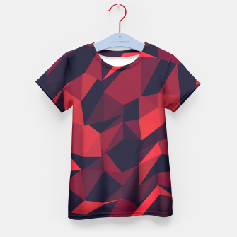 Thumbnail image of Red Geometric Pattern T-Shirt für Kinder, Live Heroes