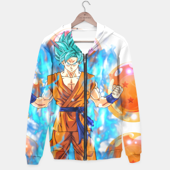Dragon Ball Super Goku Super Saiyan Blue Powered up Hoodie Bild der Miniatur