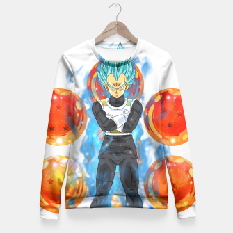 Dragon Ball Super Vegeta Super Saiyan Blue Fitted Waist Sweater miniature