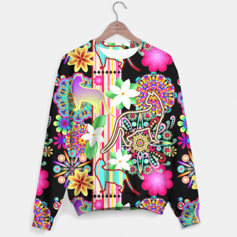 Mandalas, Cats & Flowers Fantasy Pattern  Sweater thumbnail image