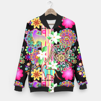 Thumbnail image of Mandalas, Cats & Flowers Fantasy Pattern  Baseball Jacket, Live Heroes