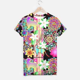 Mandalas, Cats & Flowers Fantasy Pattern  T-shirt thumbnail image