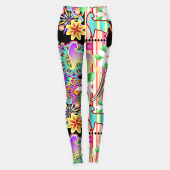 Thumbnail image of Mandalas, Cats & Flowers Fantasy Pattern  Leggings, Live Heroes