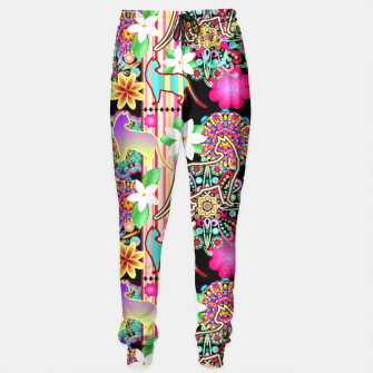 Mandalas, Cats & Flowers Fantasy Pattern  Sweatpants thumbnail image
