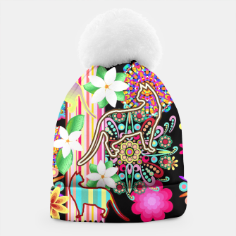 Thumbnail image of Mandalas, Cats & Flowers Fantasy Pattern  Beanie, Live Heroes