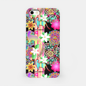 Mandalas, Cats & Flowers Fantasy Pattern  iPhone Case thumbnail image