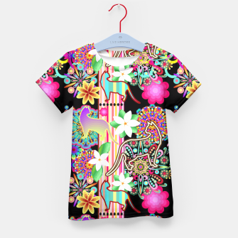 Mandalas, Cats & Flowers Fantasy Pattern  Kid's T-shirt thumbnail image
