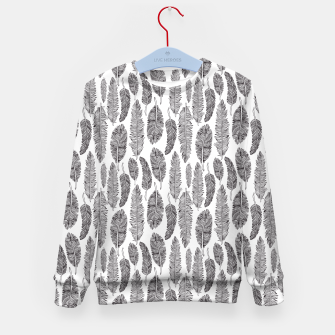 Thumbnail image of Feather pattern Kid's Sweater, Live Heroes