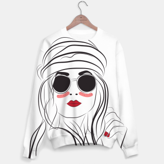 Miniatur Fashion Girl In Boho Style Sweater, Live Heroes