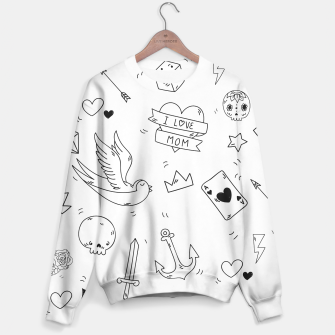 Miniature de image de Pop Culture Art / Old School Tattoo Sweater, Live Heroes