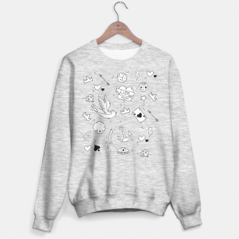 Miniature de image de Pop Culture Art / Old School Tattoo Sweater regular, Live Heroes