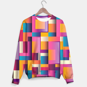 Thumbnail image of Colorful Geometric Square pattern Sweater, Live Heroes