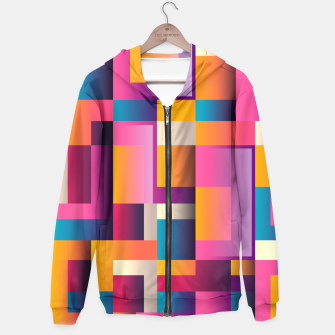 Thumbnail image of Colorful Geometric Square pattern Hoodie, Live Heroes
