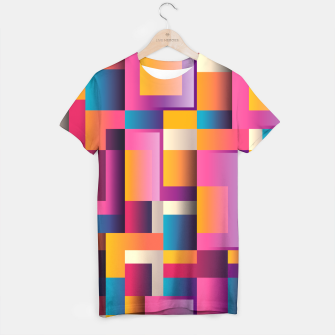 Thumbnail image of Colorful Geometric Square pattern T-shirt, Live Heroes