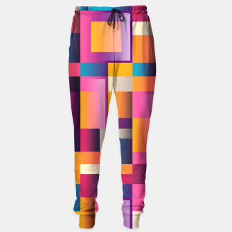 Thumbnail image of Colorful Geometric Square pattern Sweatpants, Live Heroes