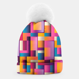 Thumbnail image of Colorful Geometric Square pattern Beanie, Live Heroes
