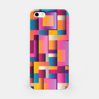 Thumbnail image of Colorful Geometric Square pattern iPhone Case, Live Heroes
