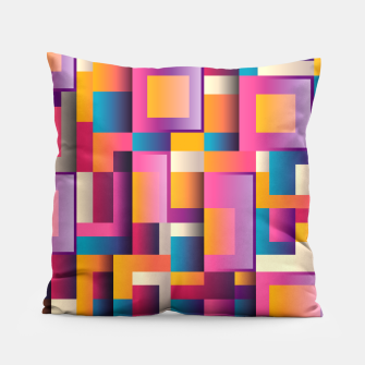 Thumbnail image of Colorful Geometric Square pattern Pillow, Live Heroes