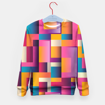 Thumbnail image of Colorful Geometric Square pattern Kid's Sweater, Live Heroes