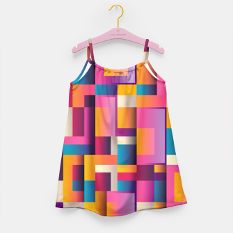 Thumbnail image of Colorful Geometric Square pattern Girl's Dress, Live Heroes