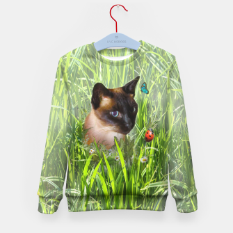 Thumbnail image of Shopie among tall grass Kid's Sweater, Live Heroes