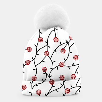 Thumbnail image of Geometric Curved Roses Beanie, Live Heroes