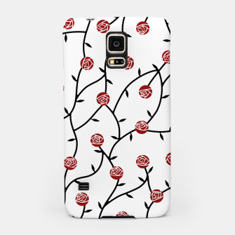 Thumbnail image of Geometric Curved Roses Samsung Case, Live Heroes