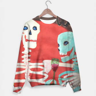 Thumbnail image of three skeletons Sweater, Live Heroes