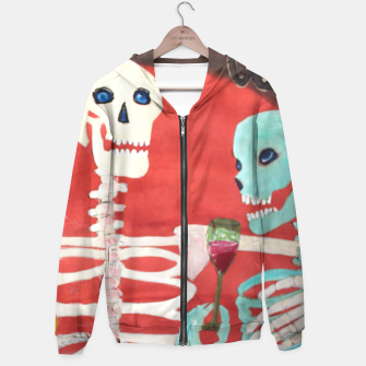 Thumbnail image of three skeletons Hoodie, Live Heroes