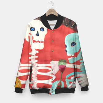 Thumbnail image of three skeletons Baseball Jacket, Live Heroes