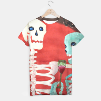 Thumbnail image of three skeletons T-shirt, Live Heroes
